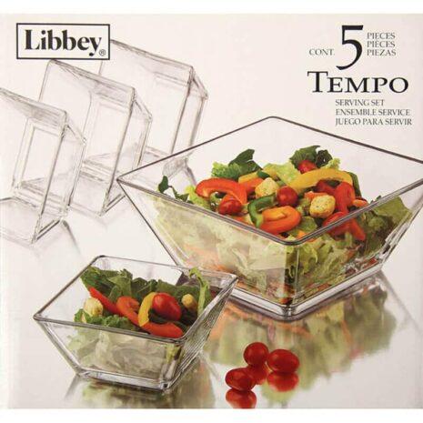 Libbey 5-piece Tempo Glass Serving Set