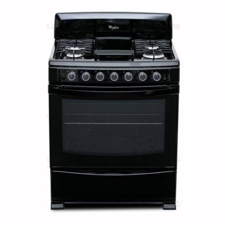 "Whirlpool 30"" 6-Burner Gas Range - Black"