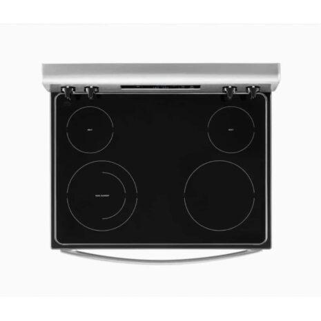 "Whirlpool 30"" 4-Burner Ceramic Top Electric Range with Storage Drawer - Stainless Steel"