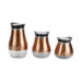 Home Basics Glass Food Storage Container Set, Copper