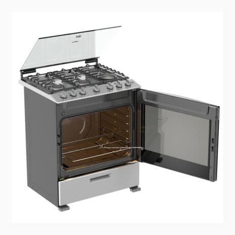 """Whirlpool 30"""" 6-Burner Gas Stove with Side-Swing Oven Door - Silver"""