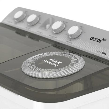 Acros 16kg Twin Tub Washer - White