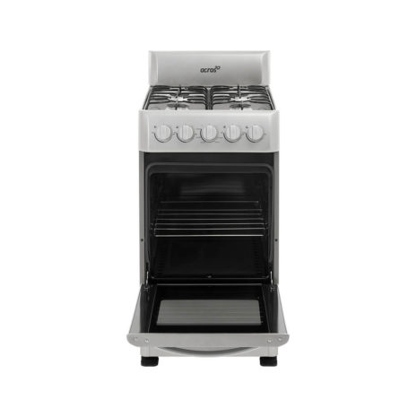 """Acros 20"""" 4-Burner Gas Stove with Stainless Steel Top - White"""