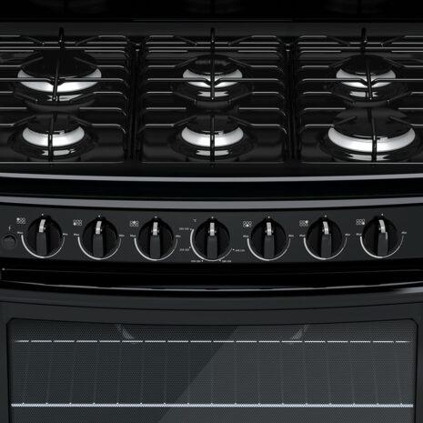 "Acros 30"" 6-Burner Gas Range - Black"