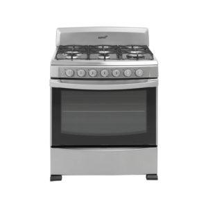 """Acros 30"""" 6-Burner Gas Stove with Stainless Steel Top - Silver"""