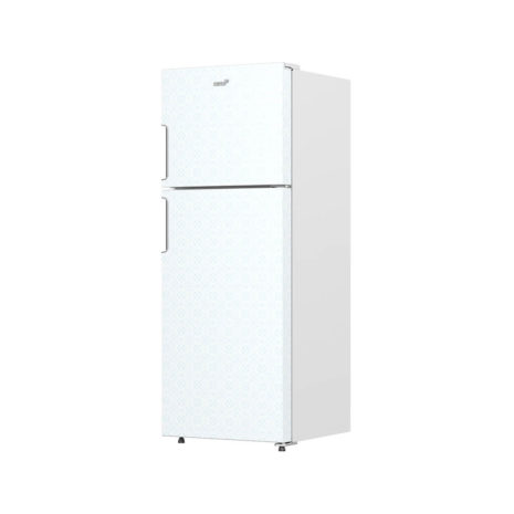 Acros 13cft Top/Bottom Mount Fridge, No Frost - White Patterned