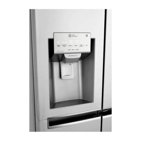 LG 24cft Door-in-Door Instaview Side by Side Fridge - Stainless Steel
