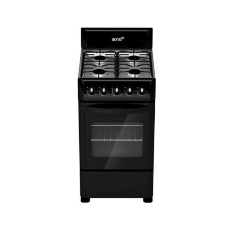 """Acros 20"""" 4-Burner Gas Stove with Stainless Steel Top - Black"""
