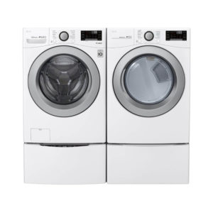LG 22kg Smart Wi-Fi Front Load Washer - White